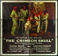 3a007 CRIMSON SKULL 6sheet '21 wonderful stone litho of top stars caught by skeleton and hooded men!