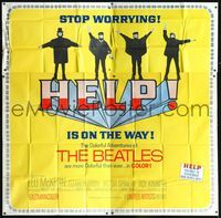 3a009 HELP 6sheet '65 great images of The Beatles, John, Paul, George & Ringo, rock & roll classic!