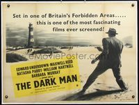 3a014 DARK MAN British quad '51 cool art of gangster with gun at lighthouse by Eric W. Pulford!