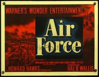 3a113 AIR FORCE half-sheet '43 Howard Hawks, John Garfield, Gig Young, Harry Carey, George Tobias