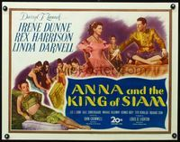 3a116 ANNA & THE KING OF SIAM half-sheet '46 pretty Irene Dunne, Rex Harrison & sexy Linda Darnell!
