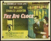 3a119 BIG CLOCK style B 1/2sh '48 Ray Milland in the strangest and most savage manhunt in history!
