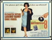 3a125 BUTTERFIELD 8 style B 1/2sh '60 callgirl Elizabeth Taylor is most desirable & easiest to find!