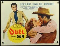 3a137 DUEL IN THE SUN style B 1/2sheet '47 Jennifer Jones, Gregory Peck & Cotten in King Vidor epic!