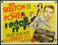 3a152 I DOOD IT half-sheet '43 two great images of Eleanor Powell, plus Red Skelton & Jimmy Dorsey!