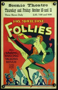 3a076 FOX MOVIETONE FOLLIES OF 1929 WC '29 super sexy art of dancing girl with turban & veil!
