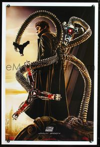 3p681 SPIDER-MAN 2 Comic-Con teaser 1sh '04 great image of Alfred Molina as Doctor Octopus!