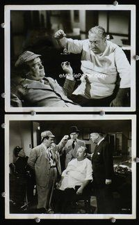3y251 ABBOTT & COSTELLO MEET THE INVISIBLE MAN 2 8x10s '51 image of Bud & Lou hypnotizing police!