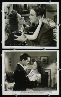3y256 ADAM HAD FOUR SONS 2 8x10s '41 two close-ups of Susan Hayward, Johnny Downs, Richard Denning!