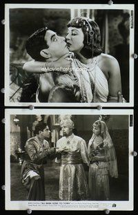 3y261 ALI BABA GOES TO TOWN 2 8x10 stills '37 great image of wacky Eddie Cantor about to be kissed!