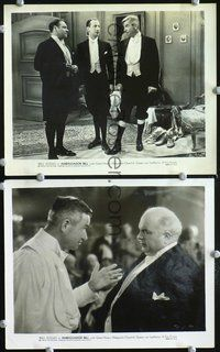3y266 AMBASSADOR BILL 2 8x10 stills R36 cool movie stills of Will Rogers in fancy suit!