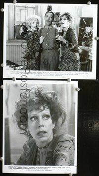 3y273 ANNIE 2 8x10 movie stills '82 Carole Burnett portrait & w/Bernadette Peters & Tim Curry!