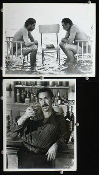 3y274 ANTHONY QUINN 2 8x10 movie stills '60s bizarre image of Quinn sitting in chair in water!
