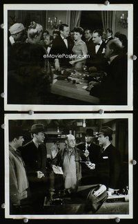 3y276 APPOINTMENT IN BERLIN 2 8x10s '43 George Sanders, cool images of casino, man held at gunpoint!