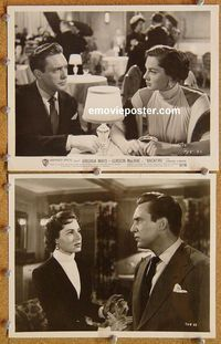 3y286 BACKFIRE 2 8x10 movie stills '50 double-crossing Virginia Mayo seduces Gordon MacRae!