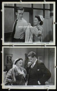 3y288 BAD FOR EACH OTHER 2 8x10 stills '53 great close-ups of young Charlton Heston, Lizabeth Scott!