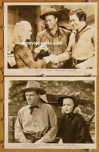 3y289 BAD MEN OF MISSOURI 2 8x10 movie stills R47 two cool images of Dennis Morgan & Jane Wyman!