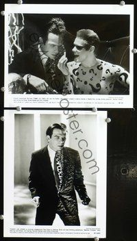 3y294 BATMAN FOREVER 2 8x10 stills '95 great images of Tommy Lee Jones as Two-Face w/Jim Carrey!