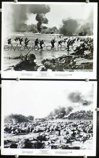 3y298 BEACH RED 2 8x10 movie stills '67 cool image of beach invasion, WWII!