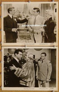 3y301 BECAUSE YOU'RE MINE 2 8x10 stills '52 great image of Mario Lanza & Doretta Morrow dancing!