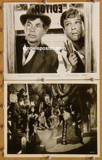 3y249 7 FACES OF DR. LAO 2 8x10s '64 great image of Tony Randall in title role & Noah Beery Jr.!