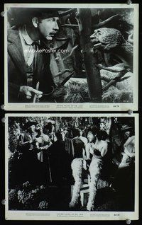 3y248 7 FACES OF DR. LAO 2 8x10 stills '64 cool image of Tony Randall as Pan & strange creature!