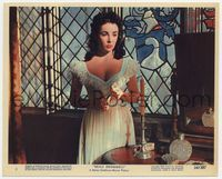 3y019 BEAU BRUMMELL Eng/US color 8x10 #5 '54 great close up of Elizabeth Taylor in low-cut dress!