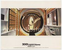 3y008 2001: A SPACE ODYSSEY English FOH LC '68 stewardess in space station walking upside-down!