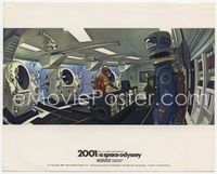 3y004 2001: A SPACE ODYSSEY English Front of House LC '68 astronaut working inside space station!