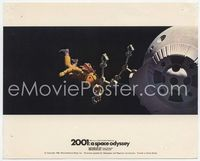 3y003 2001: A SPACE ODYSSEY English Front of House LC '68 astronaut floating in space tied to pod!