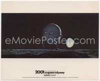 3y006 2001: A SPACE ODYSSEY English FOH LC '68 image of pod on moon's surface w/Earth in sky!
