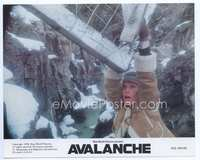 3y014 AVALANCHE 8x10 mini movie lobby card '78 cool image of Mia Farrow hanging over huge canyon!