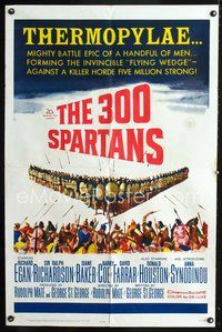 3z010 300 SPARTANS one-sheet movie poster '62 Richard Egan, the mighty battle of Thermopylae!