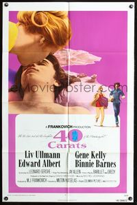 3z011 40 CARATS style A one-sheet movie poster '73 romantic close-up of Liv Ullmann & Edward Albert!