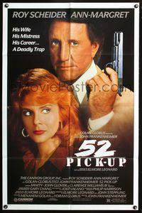 3z014 52 PICK-UP one-sheet poster '86 John Frankenheimer, close-up of Roy Scheider & Ann-Margret!