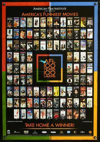 3z026 AFI'S 100 YEARS 100 LAUGHS video one-sheet movie poster '00 great images of classic comedies!