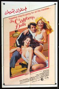 3z032 ALL THE MARBLES int'l 1sh '81 image of Peter Falk & sexy female wrestlers, California Dolls!