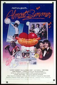 3z034 ALMOST SUMMER int'l style B one-sheet poster '78 Bruno Kirby, high school cheerleader sex!