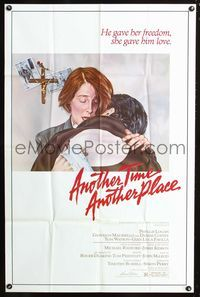 3z043 ANOTHER TIME ANOTHER PLACE one-sheet '84Michael Radford, Phyllis Logan, great romantic image!
