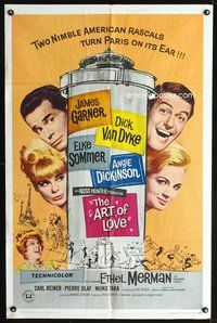 3z050 ART OF LOVE one-sheet poster '65 Dick Van Dyke, Elke Sommer, James Garner, Angie Dickinson