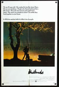 3z060 BADLANDS int'l one-sheet '74 Terence Malick's cult classic, Martin Sheen & Sissy Spacek!