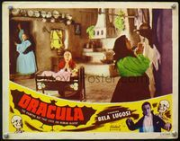4b308 DRACULA lobby card #7 R51 directed by Tod Browning, old ladies pray to be free of vampires!