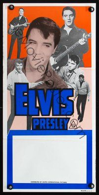 4d554 ELVIS PRESLEY STOCK Aust daybill 70s 6 great images of the rock  roll king performing