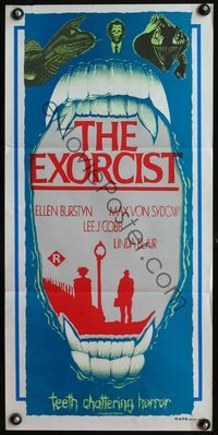 4d563 EXORCIST Australian daybill R80s William Friedkin Max Von Sydow wild bizarre clip art