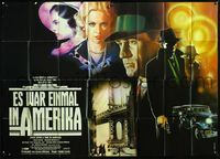 4d001 ONCE UPON A TIME IN AMERICA German two-panel '84 Sergio Leone, great art of Robert De Niro!