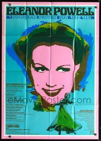 4d010 ELEANOR POWELL FILM FESTIVAL German 33x47 poster '76 cool wild artwork of Eleanor Powell!