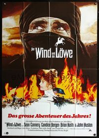 4d028 WIND & THE LION German 33x47 poster '75 art of Sean Connery & Candice Bergen, John Milius!