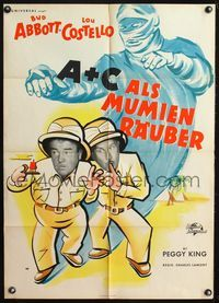 4d031 ABBOTT & COSTELLO MEET THE MUMMY German movie poster '55 cool art of Bud & Lou as explorers!