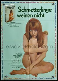 4d040 AS YOU LIKE IT German movie poster '70 sexy image of nude Gaby Fuchs!