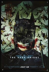 4m396 DARK KNIGHT wilding 1sh '08 cool playing card image of Christian Bale as Batman!